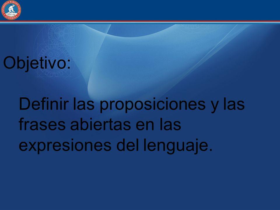 Ejercicio: Determinar el valor de verdad de las siguientes proposiciones 1.La Tierra es plana 2.7 es un numero par 3.Alemania se encuentra en Europa 4.Las fuerzas se pueden representar gráficamente 5.Transpiro porque hago deporte 6.Lima es la capital de Perú 7.Guatemala es una Isla 8.El Triangulo Equilátero tiene 3 lados iguales 9.Simón Bolívar nació en Guatemala 10.La botánica estudia los animales V(q) = 0 V(q) = 1 V(q) = 0 V(q) = 1 V(q) = 0