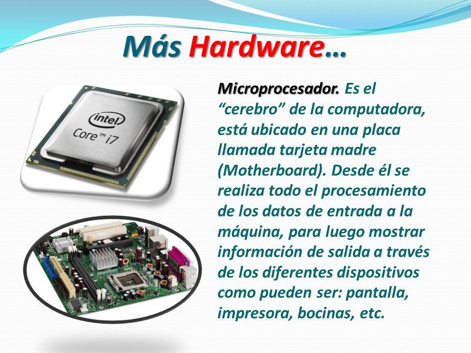 Más Hardware… Microprocesador.Microprocesador.