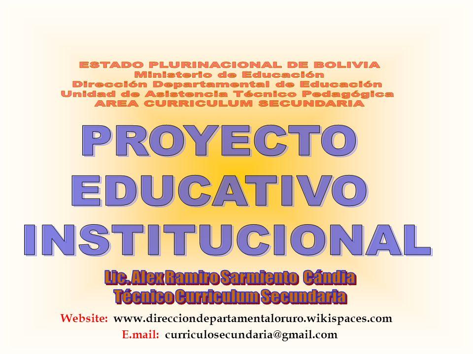 Website: www.direcciondepartamentaloruro.wikispaces.com E.mail: curriculosecundaria@gmail.com
