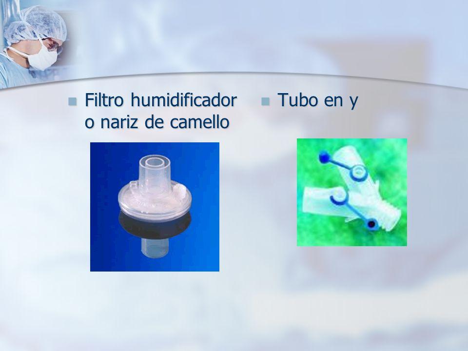 Filtro humidificador o nariz de camello Filtro humidificador o nariz de camello Tubo en y