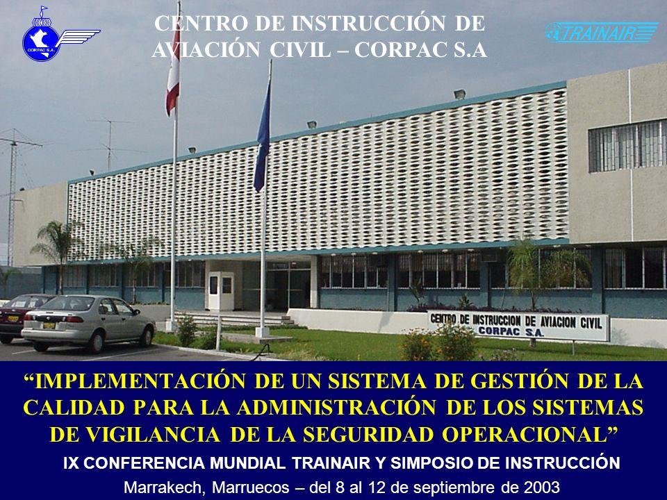 OBJETIVOS DE LA PONENCIA Motivar la aplicación de sistemas de gestión de la calidad para la administración de los sistemas de la seguridad operacional y compartir sus ventajas y beneficios.