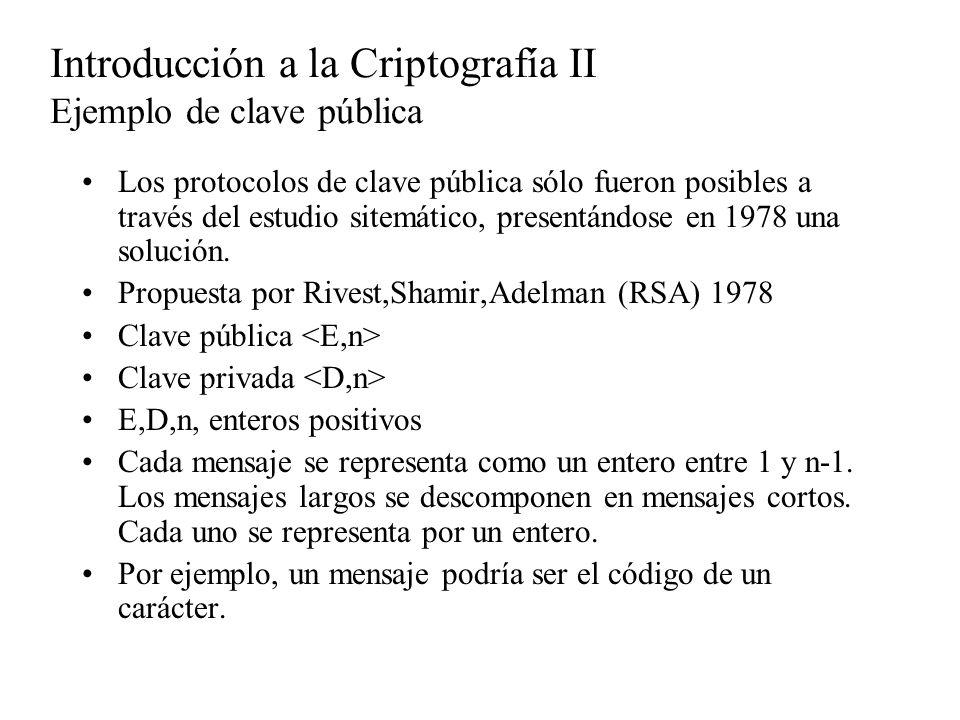 Los protocolos de clave pública sólo fueron posibles a través del estudio sitemático, presentándose en 1978 una solución. Propuesta por Rivest,Shamir,