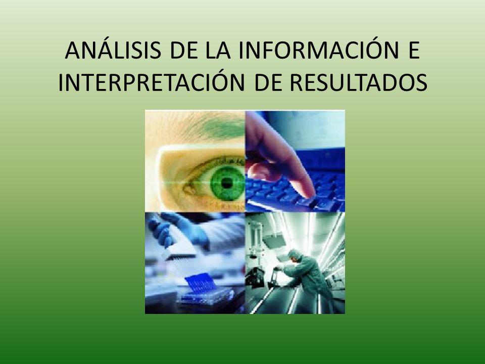 ANÁLISIS DE LA INFORMACIÓN E INTERPRETACIÓN DE RESULTADOS Mayo 2010