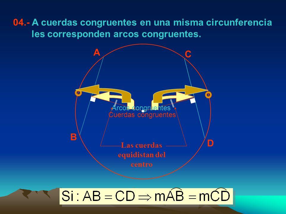 POSICIONES RELATIVAS DE DOS CIRCUNFERENCIAS 01.- CIRCUNFERENCIAS CONCENTRICAS.- Tienen el mismo centro.