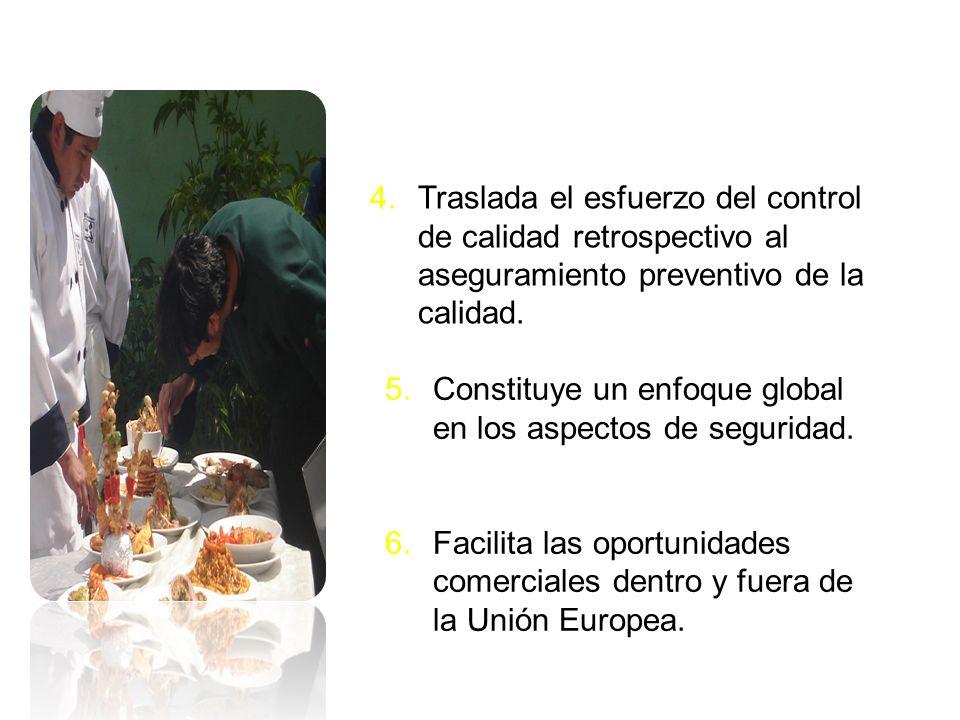 5.Constituye un enfoque global en los aspectos de seguridad. 6.Facilita las oportunidades comerciales dentro y fuera de la Unión Europea. 4.Traslada e