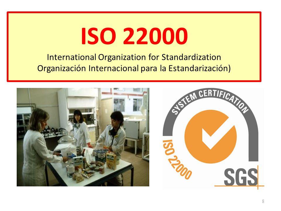 ELEMENTOS PRINCIPALES EN EL DESPLIEGUE DE LA NORMA ISO 22000 19 Gestión de sistema Control de los riesgos Comunicación Interactiva