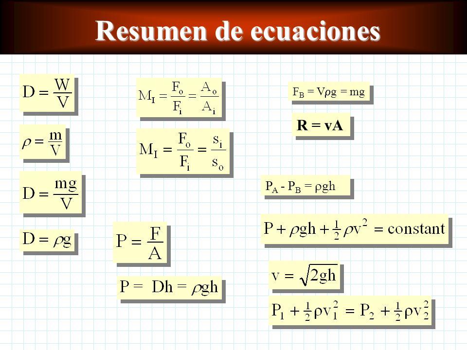 Aplicaciones de la ecuación de Bernoulli El teorema de Torricelli se expresa por la ecuación: El efecto Venturi se muestra por: