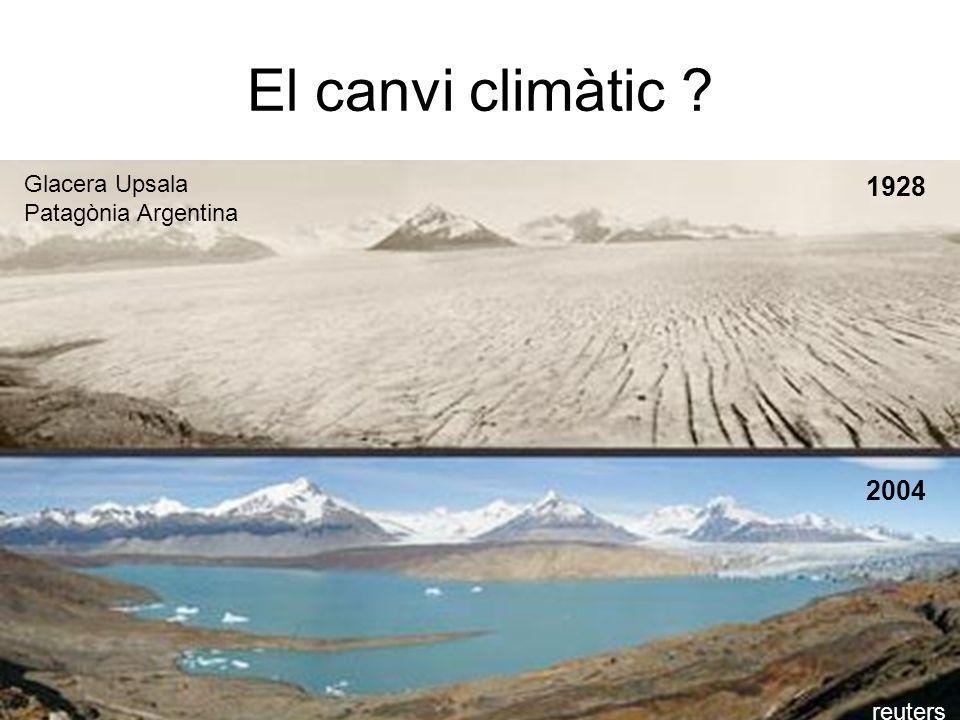 El canvi climàtic ? 1928 2004 Glacera Upsala Patagònia Argentina reuters