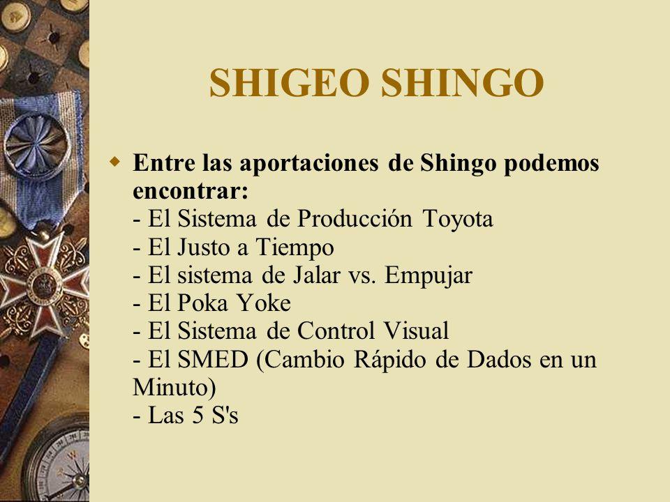 SHIGEO SHINGO E s uno de los Gurús en calidad que más impacto ha tenido en el nivel de vida de los pueblos, debido a que sus contribuciones a las técn