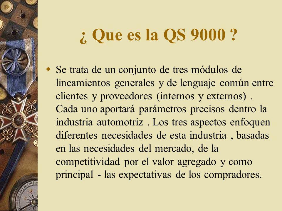ISO 9000 QS 9000 UNIDAD II