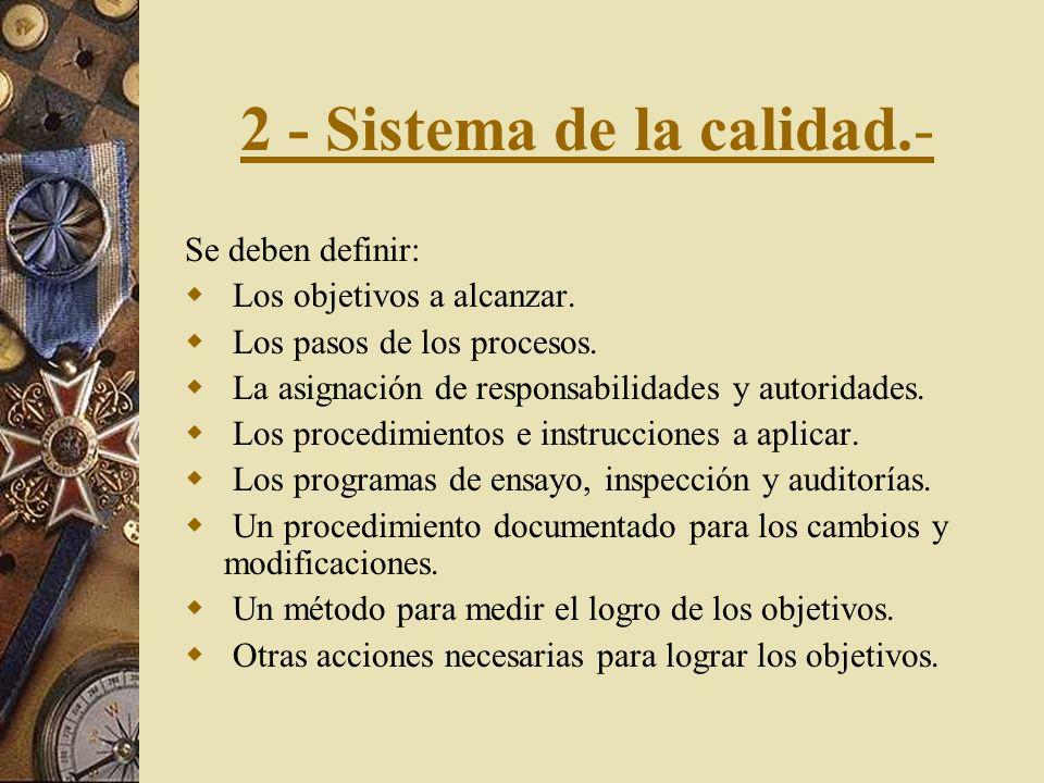 1 - Responsable de la dirección. Organización. Se deben definir y documentar las responsabilidades, la autoridad y las interrelaciones de todo el pers