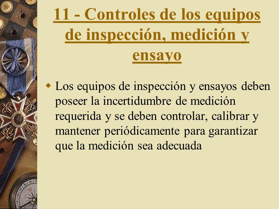 10 - Inspección y ensayos. Inspección y ensayos de recepción.- Los productos recibidos no deberán ser utilizados o procesados antes de que se haya ver