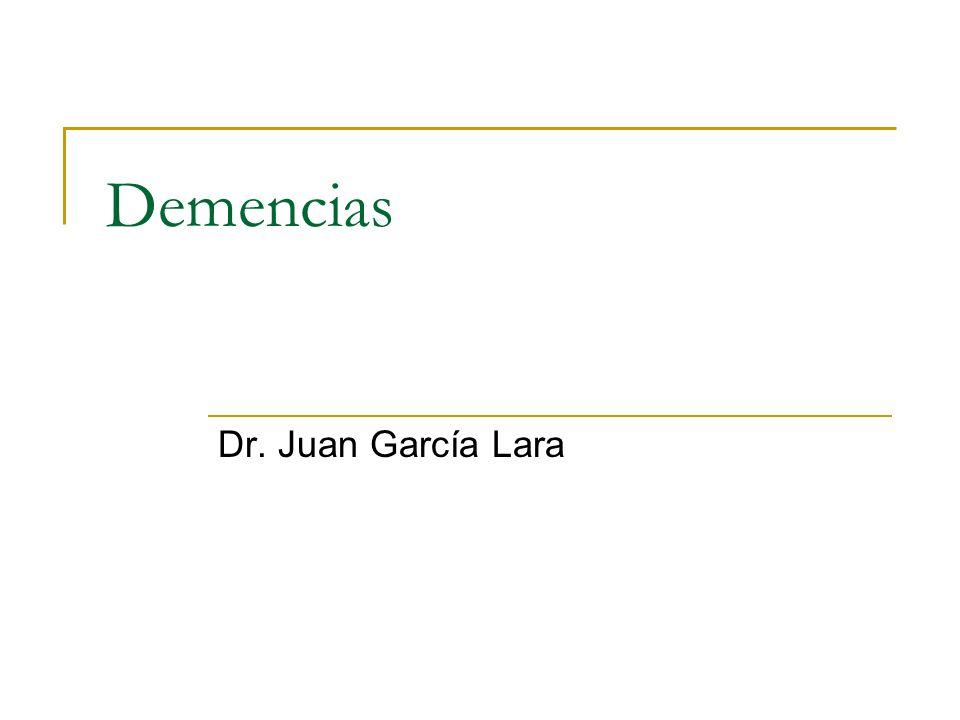 Demencia vs delirum Primera causa a descartar Utilizar métodos diagnósticos establecidos CAM DSMIV En ocasiones delirum es parte de demencia en estadios crónicos Investigar Fármacos, Infecciones, dolor, edo HE, ICC Geldmacher.