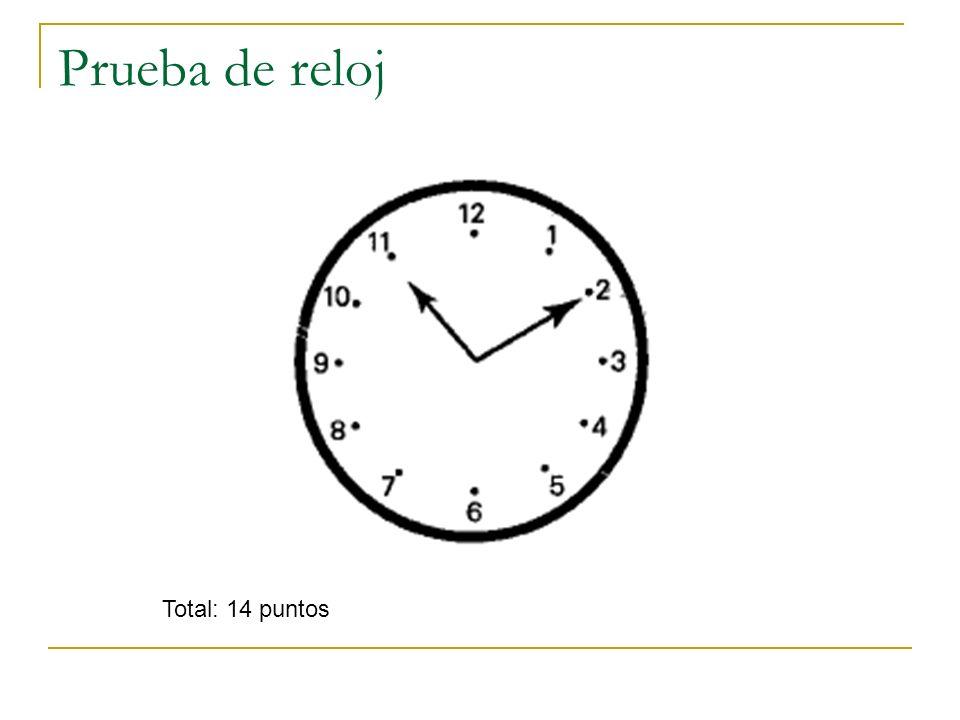 Prueba de reloj Total: 14 puntos