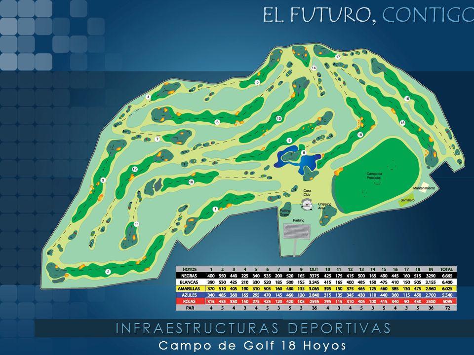 EL FUTURO, CONTIGO Campo de Golf 18 Hoyos INFRAESTRUCTURAS DEPORTIVAS