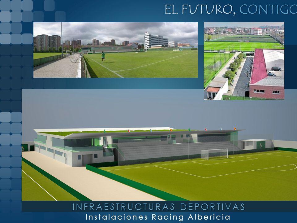 EL FUTURO, CONTIGO Instalaciones Racing Albericia INFRAESTRUCTURAS DEPORTIVAS