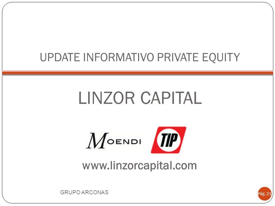 UPDATE INFORMATIVO PRIVATE EQUITY LINZOR CAPITAL www.linzorcapital.com GRUPO ARCONAS Pág. 21