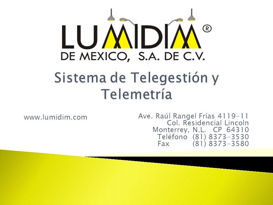 Ave. Raúl Rangel Frías 4119-11 Col. Residencial Lincoln Monterrey, N.L. CP 64310 Teléfono (81) 8373-3530 Fax (81) 8373-3580 www.lumidim.com