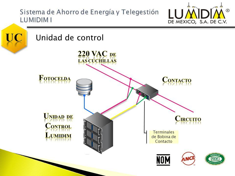 Unidad de control Terminales de Bobina de Contacto