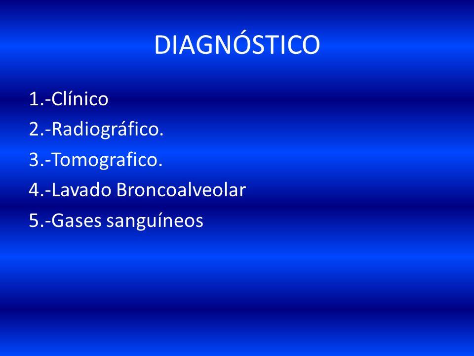 CUADRO CLINICO Generalmente estos pacientes se encuentran con asistencia ventilatoria asociada a: Barotrauma. Neumotórax. Enfisema subcutáneo,etc. FAL