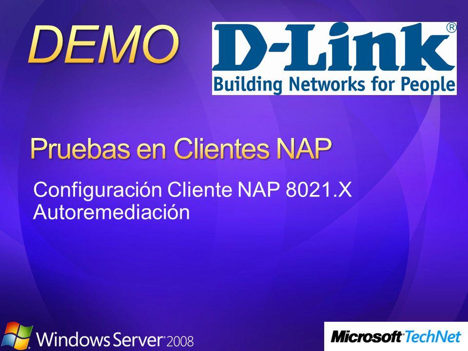 Configuración Cliente NAP 8021.X Autoremediación