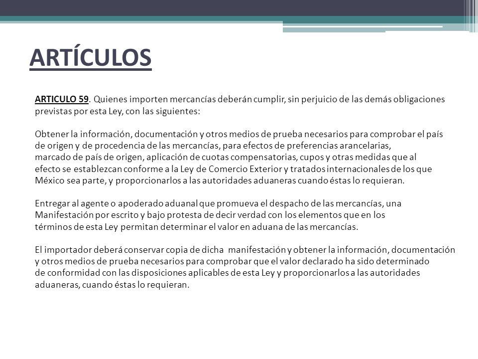 ARTÍCULOS ARTICULO 59.