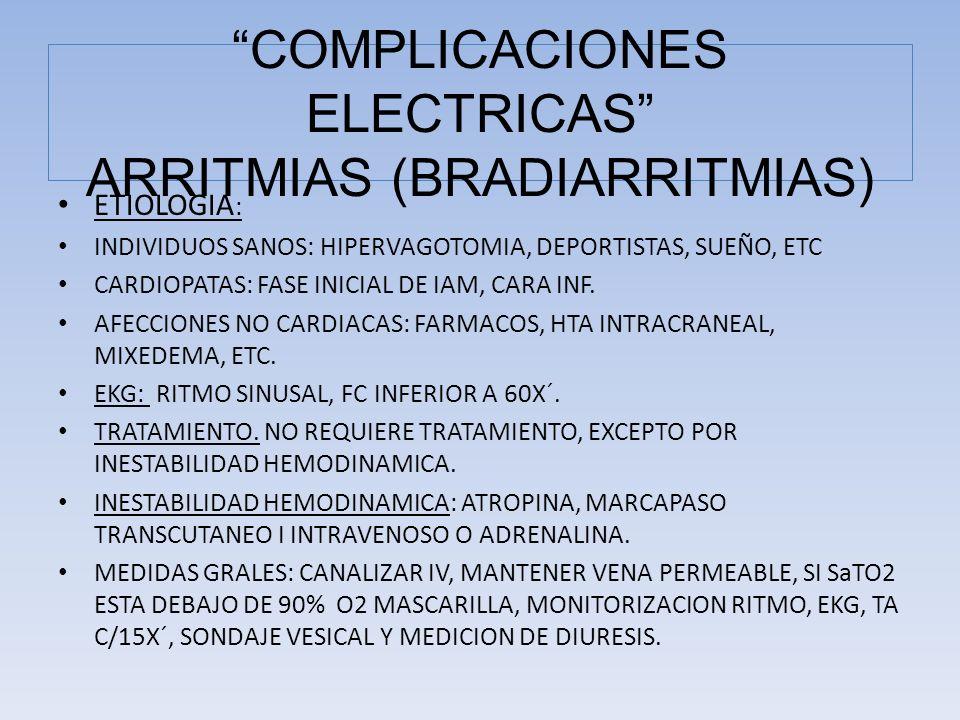 ETIOLOGIA : INDIVIDUOS SANOS: HIPERVAGOTOMIA, DEPORTISTAS, SUEÑO, ETC CARDIOPATAS: FASE INICIAL DE IAM, CARA INF. AFECCIONES NO CARDIACAS: FARMACOS, H