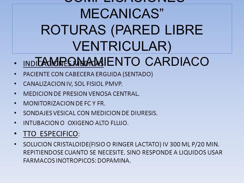 INDICACIONES MEDICAS : PACIENTE CON CABECERA ERGUIDA (SENTADO) CANALIZACION IV, SOL FISIOL PMVP. MEDICION DE PRESION VENOSA CENTRAL. MONITORIZACION DE