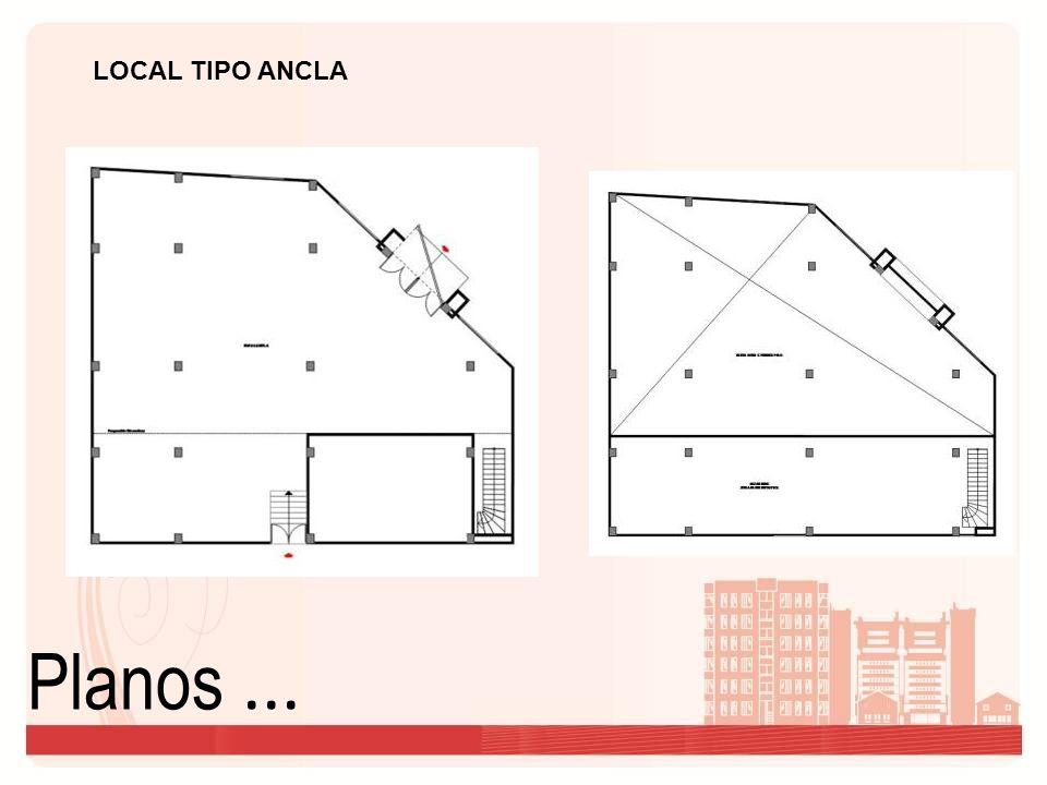 Planos... LOCAL TIPO ANCLA