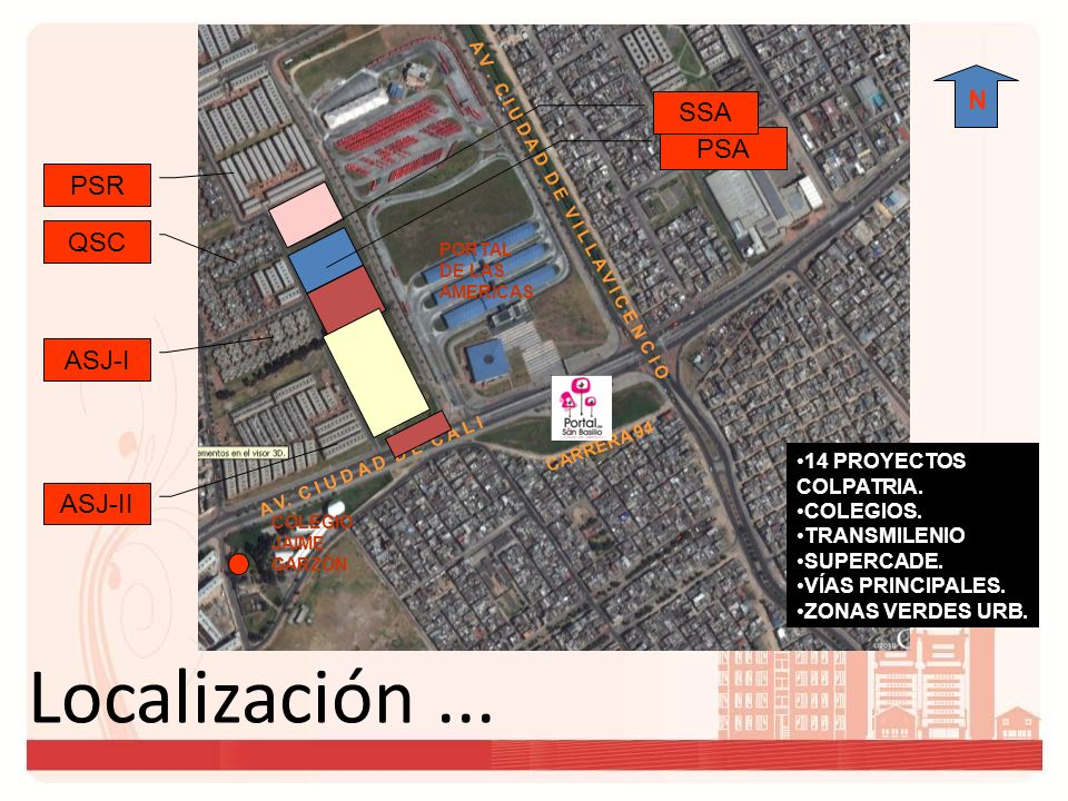 Localización...N PORTAL DE LAS AMERICAS A V.