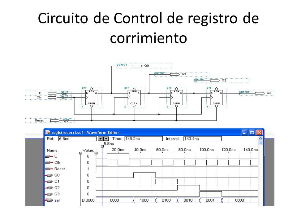 Circuito de Control de registro de corrimiento