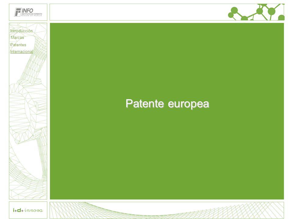Introducción Marcas Patentes Internacional Patente europea