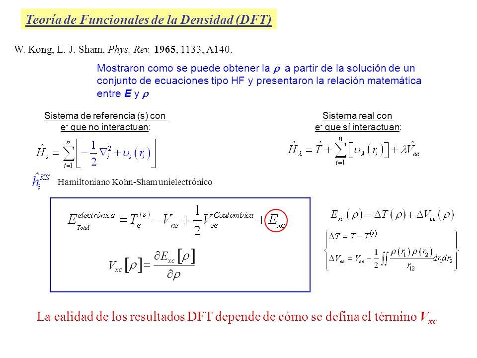 W. Kong, L. J. Sham, Phys. Rev. 1965, 1133, A140. Mostraron como se puede obtener la a partir de la solución de un conjunto de ecuaciones tipo HF y pr