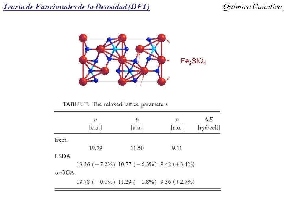 Fe 2 SiO 4 Teoría de Funcionales de la Densidad (DFT)Química Cuántica