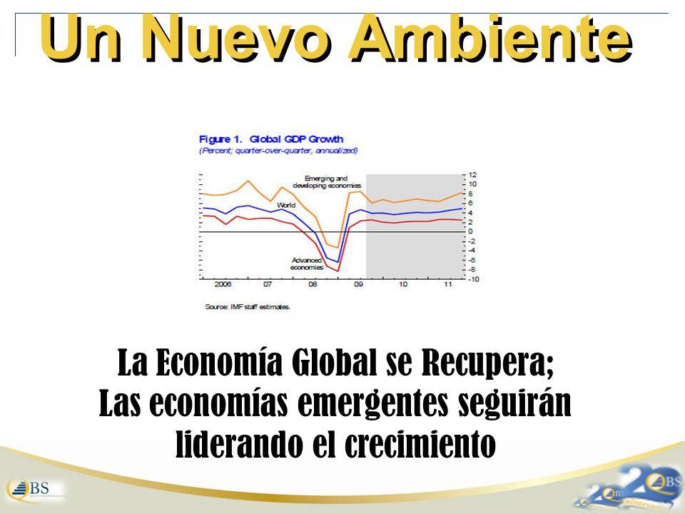 Un Nuevo Ambiente La Economía Global se Recupera; Las economías emergentes seguirán liderando el crecimiento