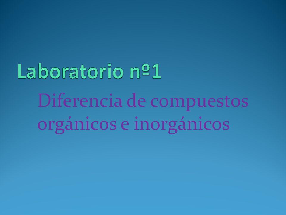 Diferencia de compuestos orgánicos e inorgánicos