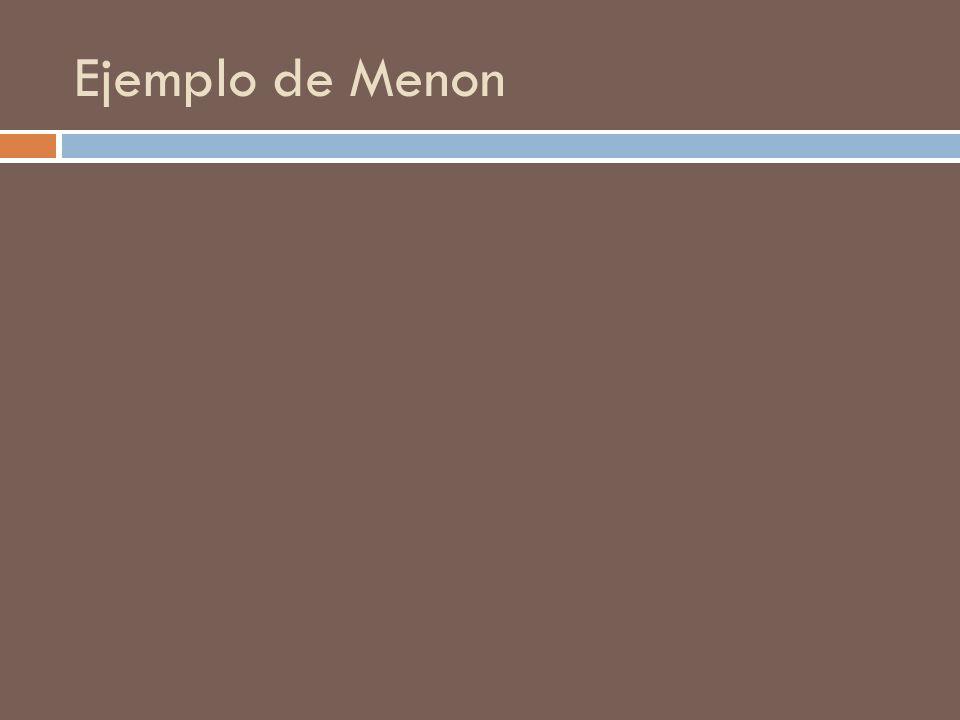Ejemplo de Menon