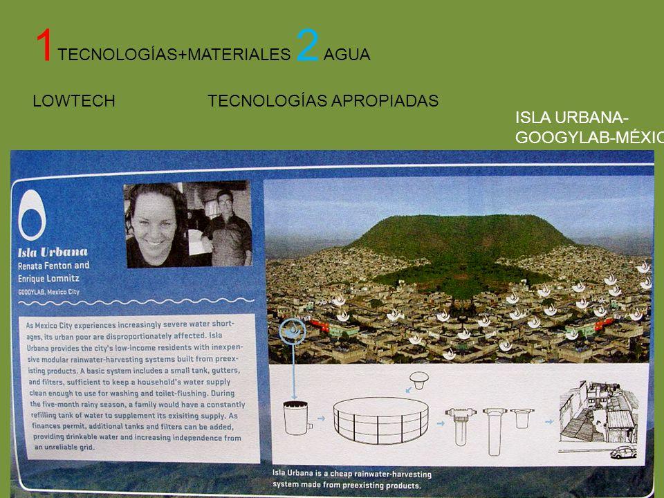 1 TECNOLOGÍAS+MATERIALES 2 AGUA LOWTECH TECNOLOGÍAS APROPIADAS ISLA URBANA- GOOGYLAB-MÉXICO