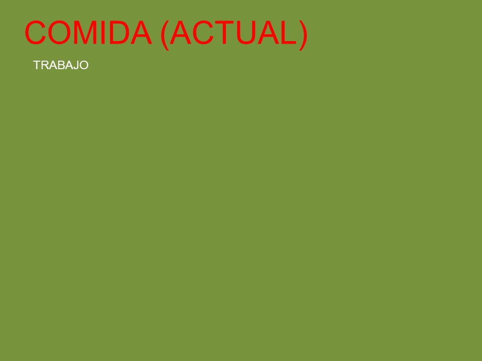 COMIDA (ACTUAL) TRABAJO