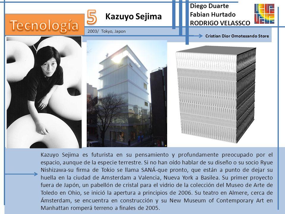 2003/ Tokyo, Japon Kazuyo Sejima Cristian Dior Omotesando Store Diego Duarte Fabian Hurtado RODRIGO VELASSCO Kazuyo Sejima es futurista en su pensamie