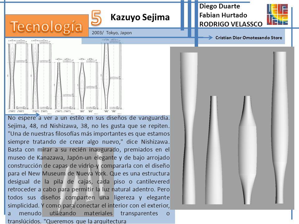 2003/ Tokyo, Japon Kazuyo Sejima Cristian Dior Omotesando Store No espere a ver a un estilo en sus diseños de vanguardia. Sejima, 48, nd Nishizawa, 38