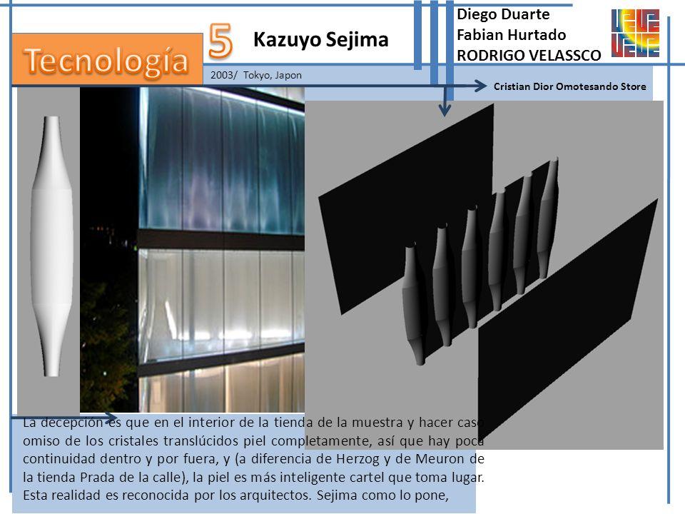 2003/ Tokyo, Japon Kazuyo Sejima Cristian Dior Omotesando Store La decepción es que en el interior de la tienda de la muestra y hacer caso omiso de lo