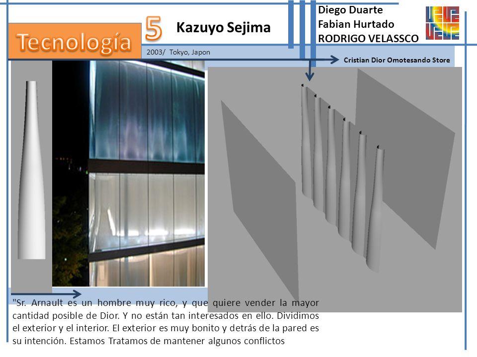 2003/ Tokyo, Japon Kazuyo Sejima Cristian Dior Omotesando Store