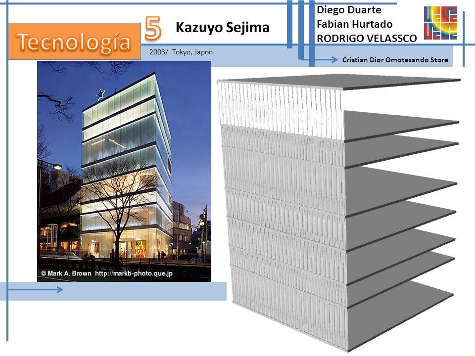 Kazuyo Sejima Cristian Dior Omotesando Store 2003/ Tokyo, Japon Diego Duarte Fabian Hurtado RODRIGO VELASSCO