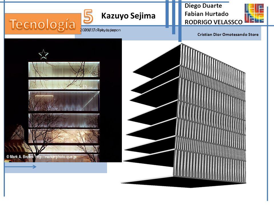 2003/ Tokyo, Japon Kazuyo Sejima Cristian Dior Omotesando Store 2003/ Tokyo, Japon Diego Duarte Fabian Hurtado RODRIGO VELASSCO