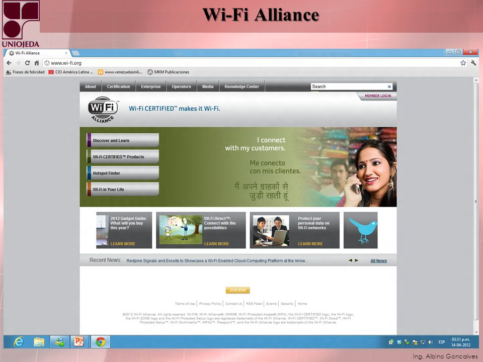 Ing. Albino Goncalves Wi-Fi Alliance