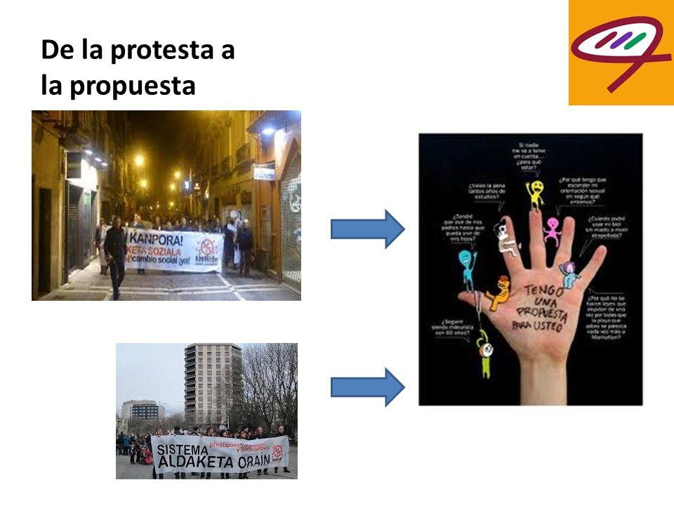 De la protesta a la propuesta