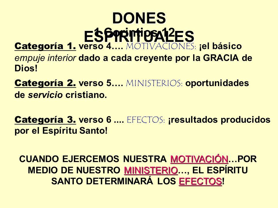 DONES ESPIRITUALES Categoría 1.verso 4….