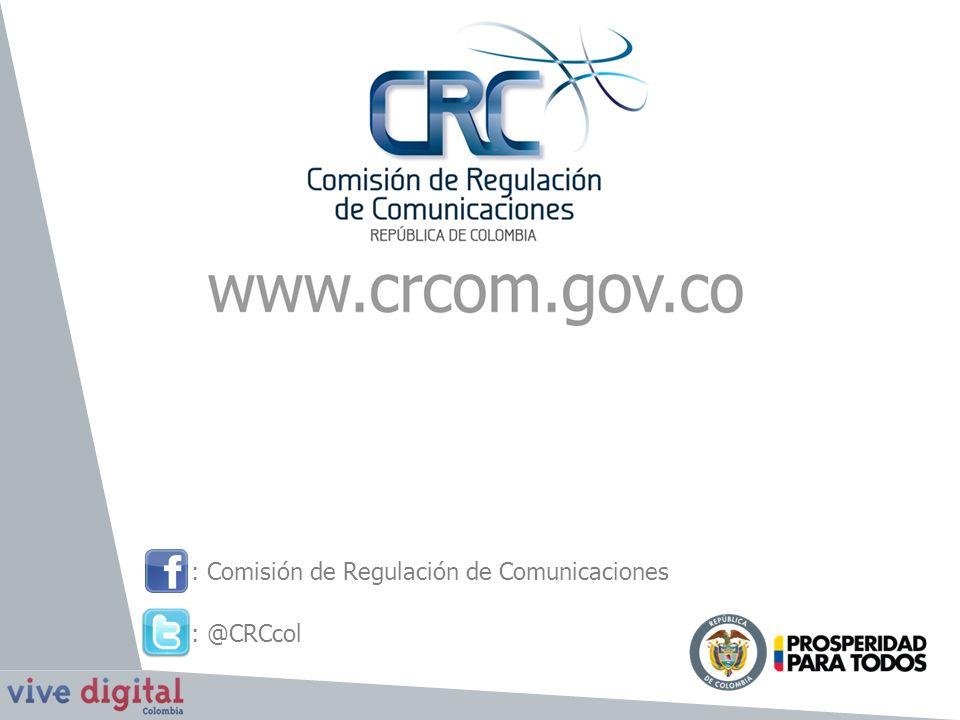: Comisión de Regulación de Comunicaciones : @CRCcol