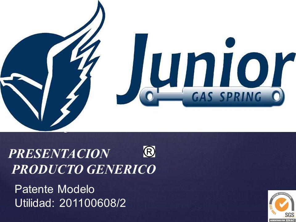 { PRESENTACION PRODUCTO GENERICO Patente Modelo Utilidad: 201100608/2